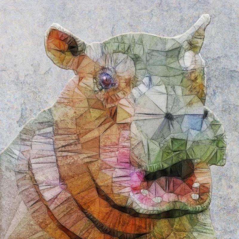 Funny Hippo as Canvas Print by Ancello | JUNIQE
