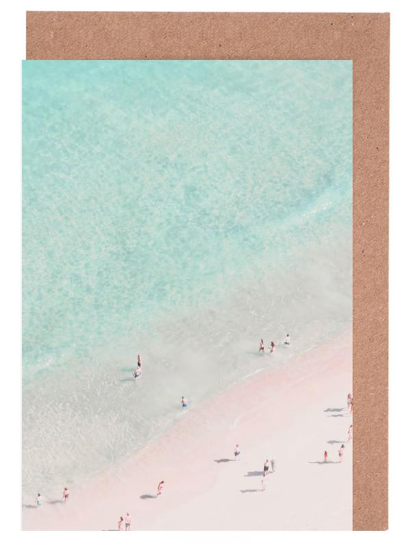 Beach love as greeting card set by ingrid beddoes juniqe home stationery greeting cards m4hsunfo