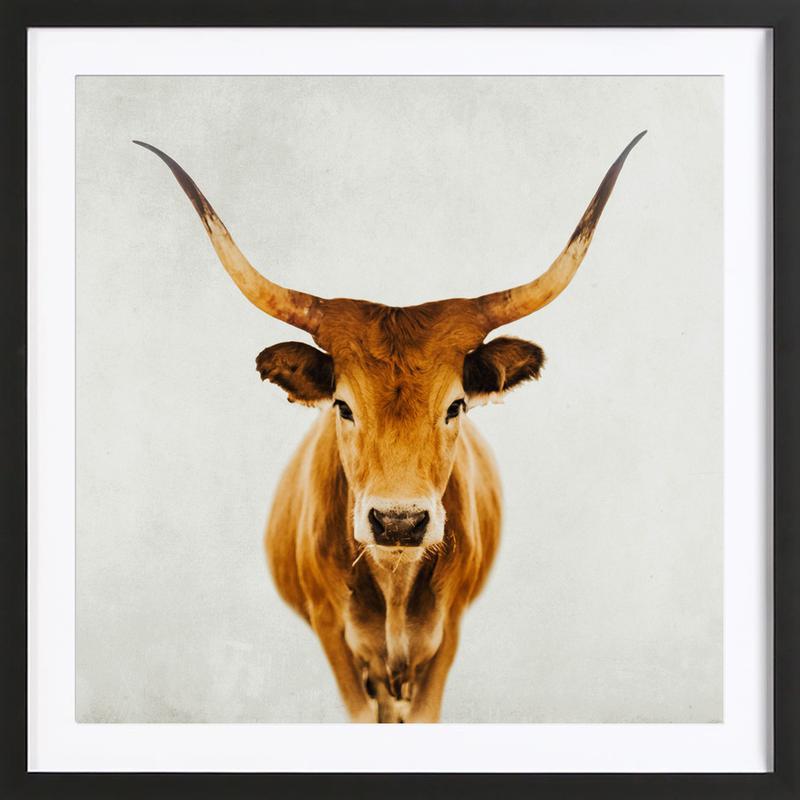 Honey Portrait als Poster im Holzrahmen von Ingrid Beddoes | JUNIQE CH