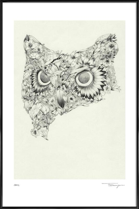 Owl as Poster in Standard Frame by Faunesque | JUNIQE