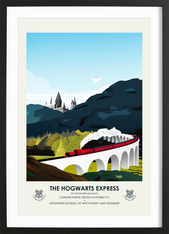 Hogwarts Express as Poster in Wooden Frame by CMA | JUNIQE