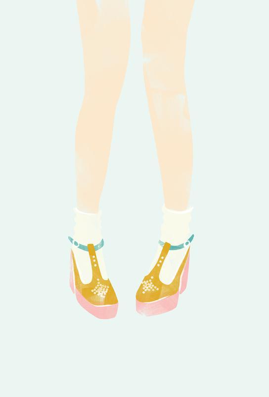 01d2fae62f29f Shoes 02 as Aluminium Print by Babeth Lafon | JUNIQE