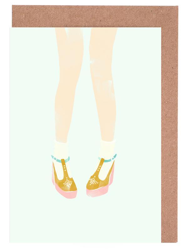 Shoes 02 as greeting card set by babeth lafon juniqe m4hsunfo