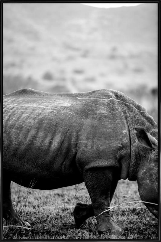 Black Rhino as Poster in Standard Frame by Shot By Clint | JUNIQE