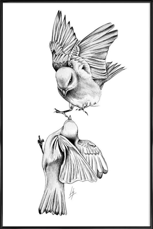 Birds as Poster in Standard Frame by Libby Watkins | JUNIQE UK
