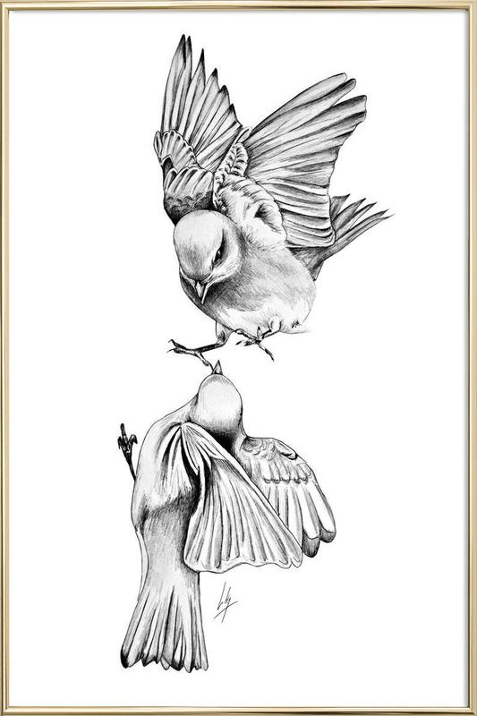 Birds as Poster in Aluminium Frame by Libby Watkins | JUNIQE