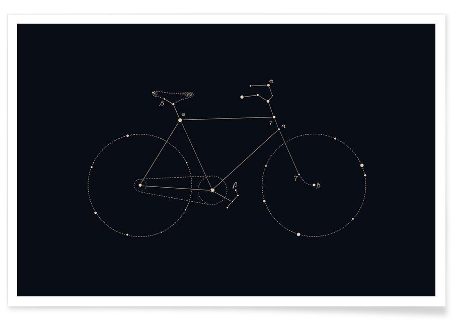 Bike Constellation As Poster By Florent Bodart