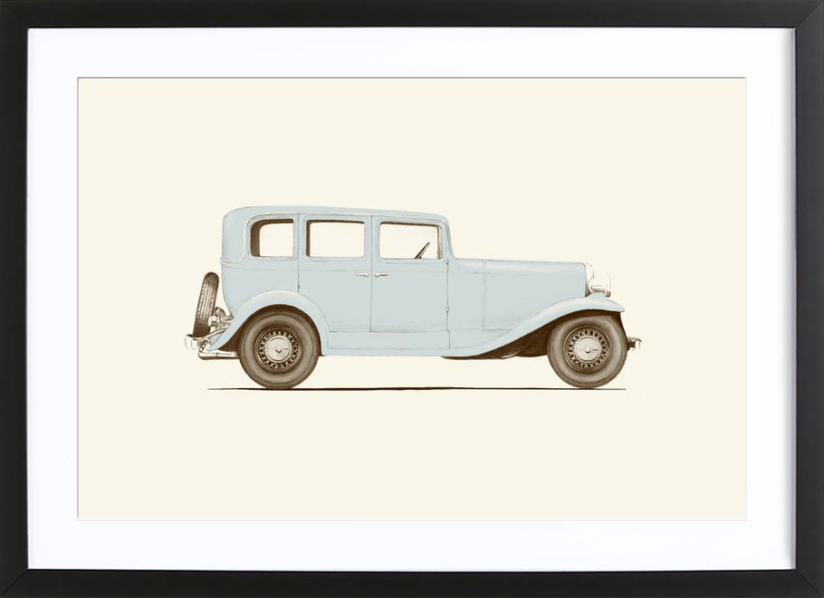 Car 30\'s as Poster in Wooden Frame by Florent Bodart | JUNIQE