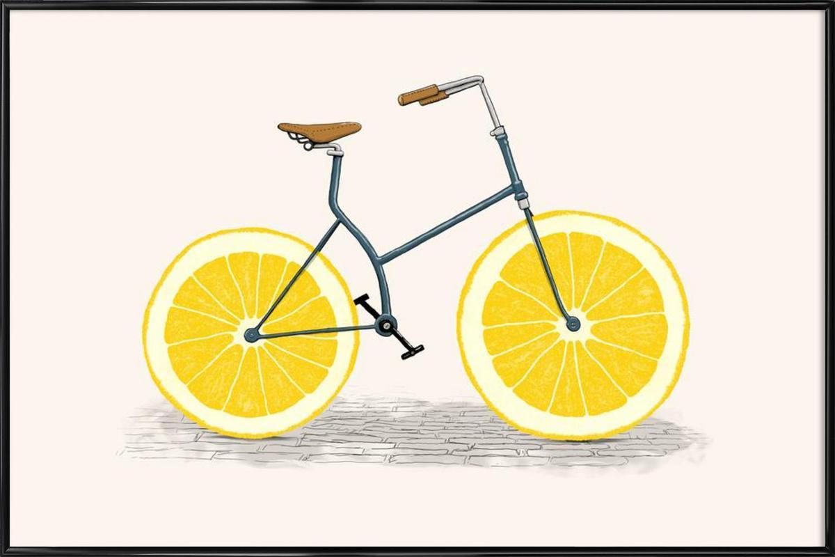 Lemonade as Poster in Standard Frame by Florent Bodart | JUNIQE