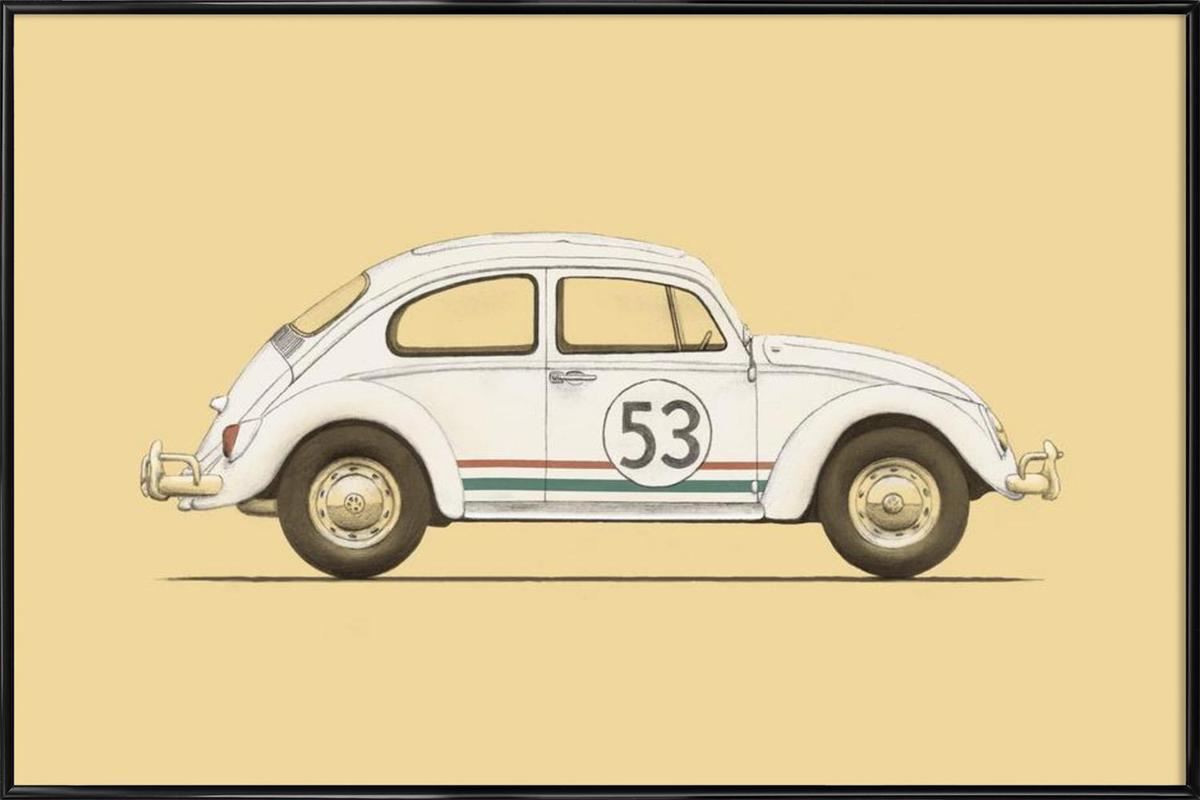 Famous Car as Poster in Standard Frame by Florent Bodart | JUNIQE