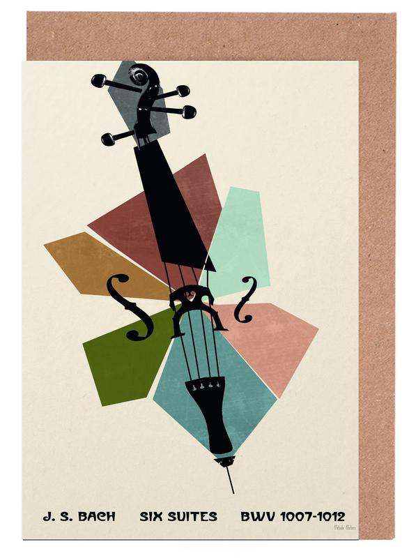 Bach cello suites as greeting card set by prelude posters juniqe uk m4hsunfo