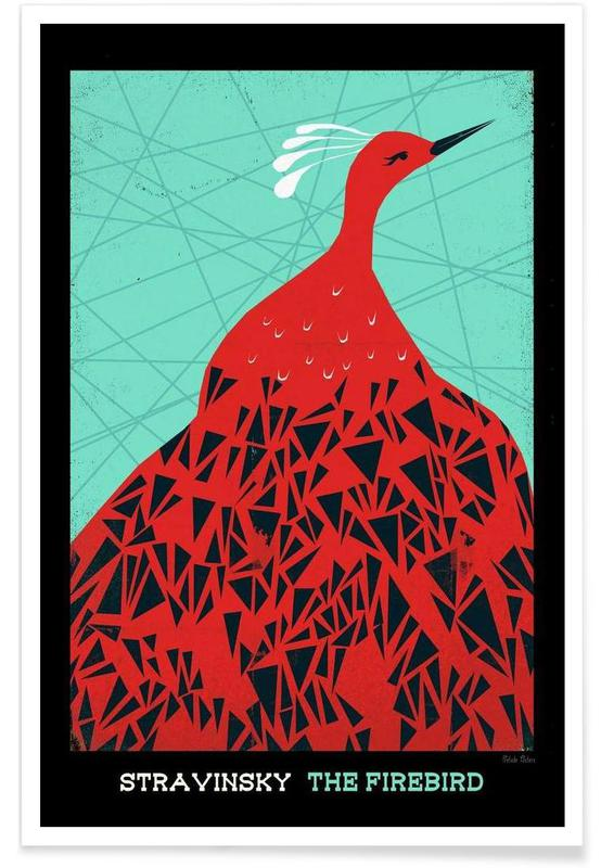 Stravinsky firebird as premium poster by prelude posters juniqe m4hsunfo