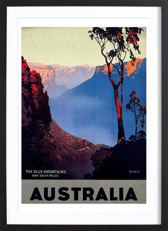 australia1 en affiche sous cadre en bois juniqe. Black Bedroom Furniture Sets. Home Design Ideas