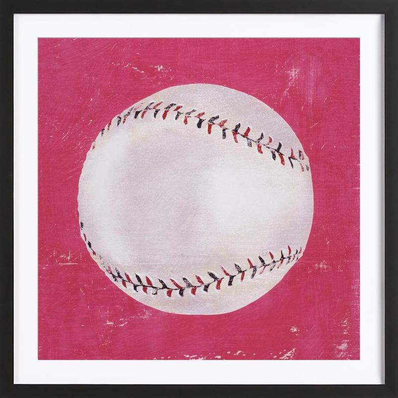 Baseball as Poster in Wooden Frame by Andy Bridge | JUNIQE