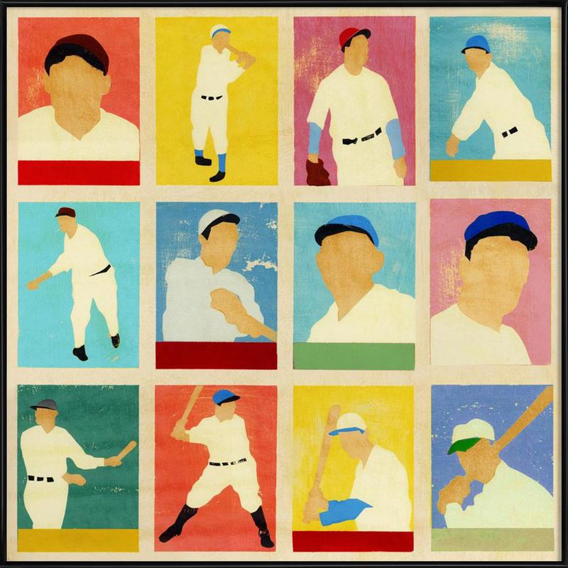 Baseball Cards als Poster im Kunststoffrahmen von Andy Bridge | JUNIQE