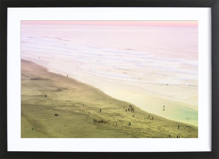 Ocean Beach California as Poster in Wooden Frame | JUNIQE