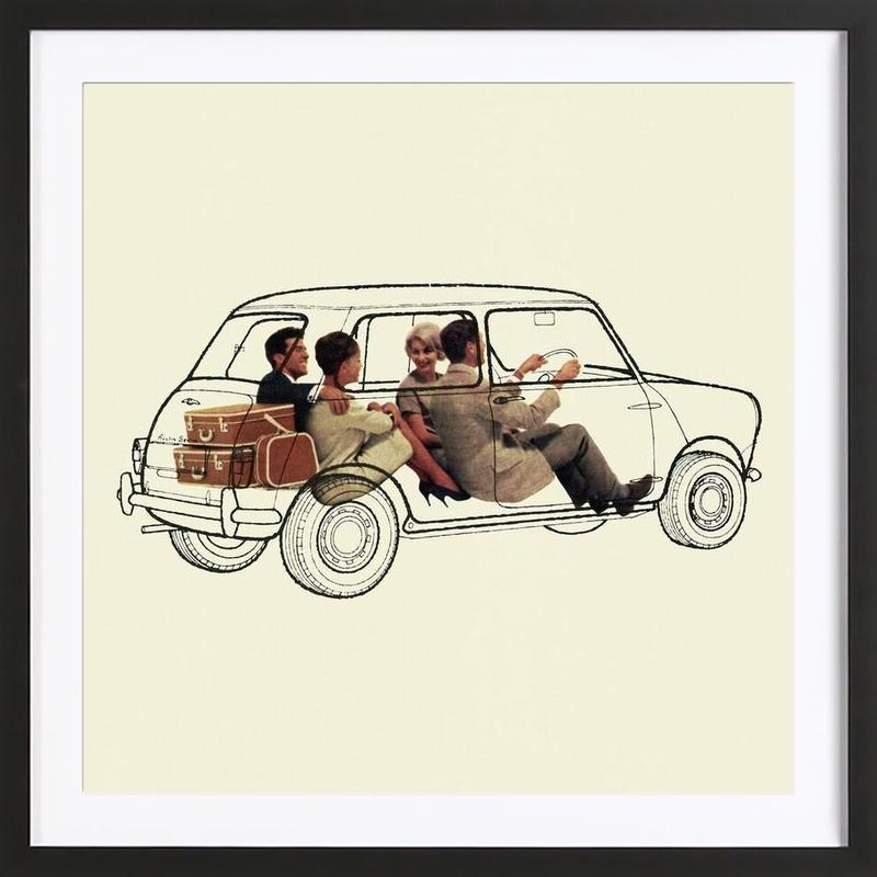 See-through Mini as Poster in Wooden Frame | JUNIQE UK