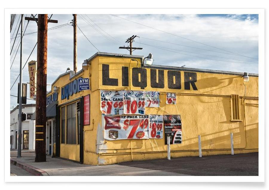 Liquor Store Culver City As Premium Poster By Marc Gruninger Juniqe