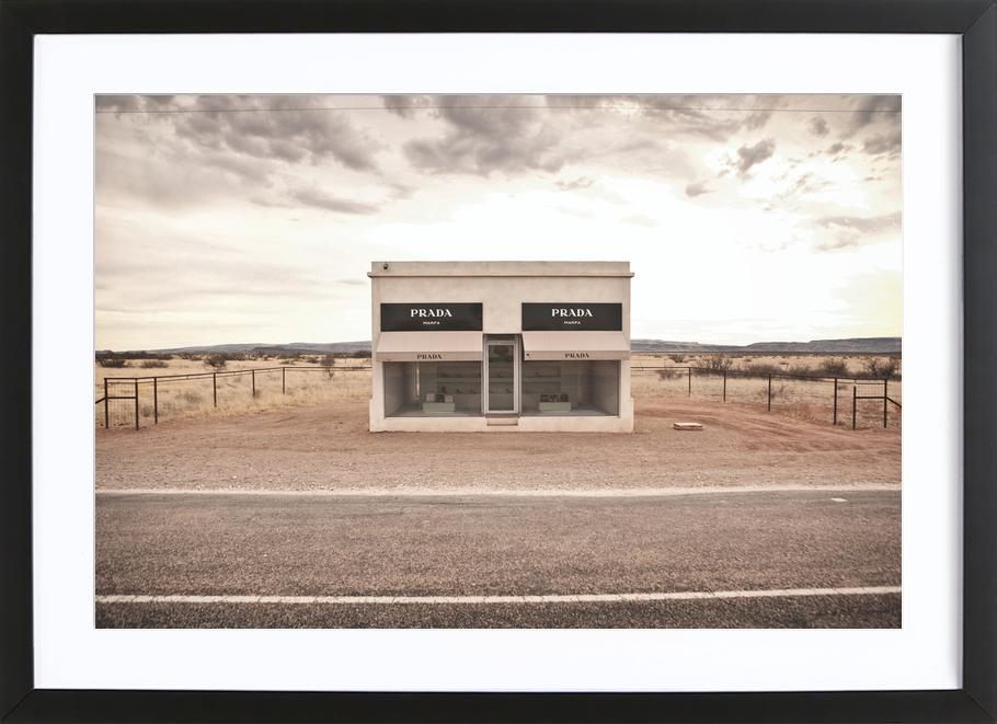 Famoso Prada Marfa as Poster in Wooden Frame by Marc Gruninger | JUNIQE UK WV78