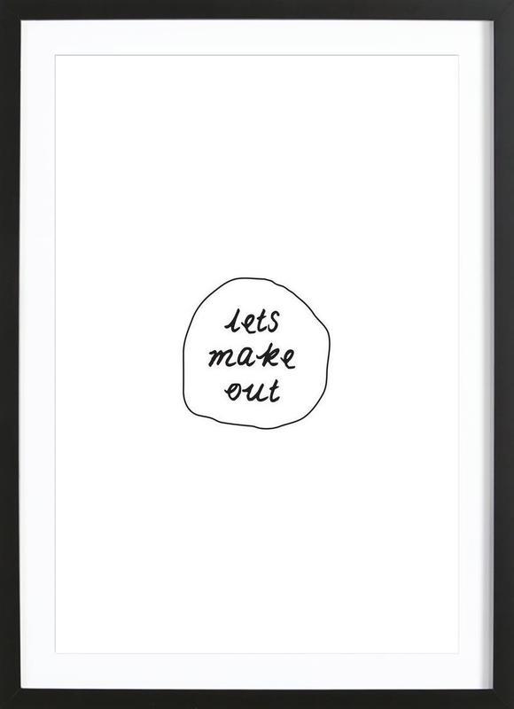 Make out as Poster in Wooden Frame by Magdalena Lindstedt | JUNIQE
