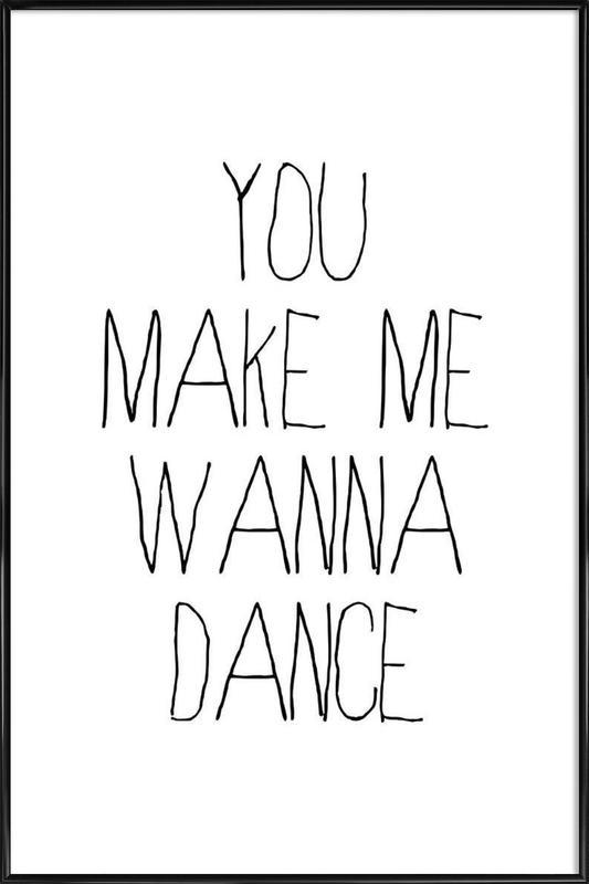 dance as Poster in Standard Frame by Mottos by Sinan Saydik | JUNIQE