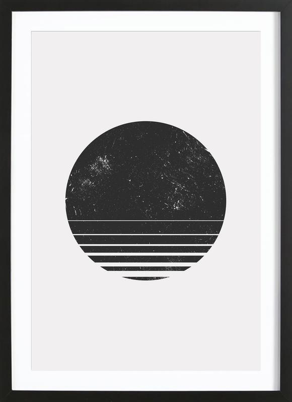 Geometric space as poster in wooden frame juniqe
