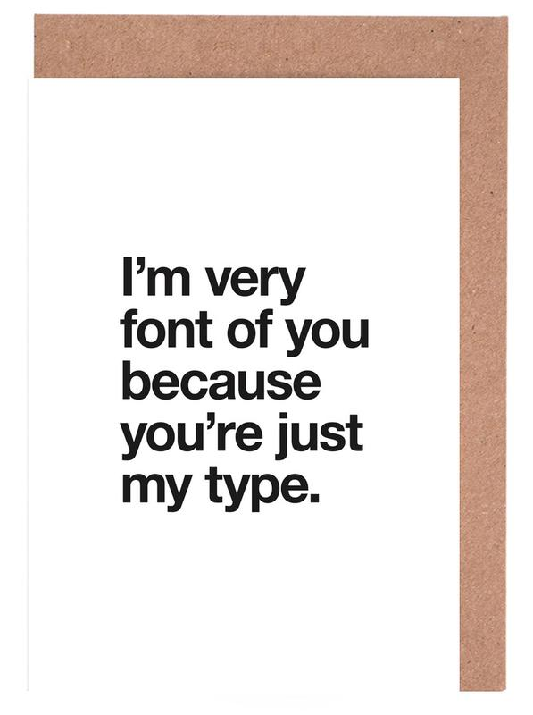 Font of you as greeting card set by words brand juniqe m4hsunfo