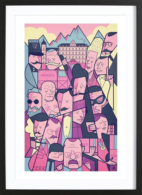 Home Wall Art Posters in Wooden Frames & Grand Budapest Hotel as Poster in Wooden Frame | JUNIQE