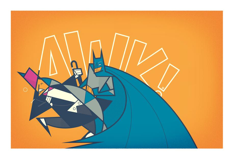 Batman Awk As Acrylic Glass Print By Ale Giorgini