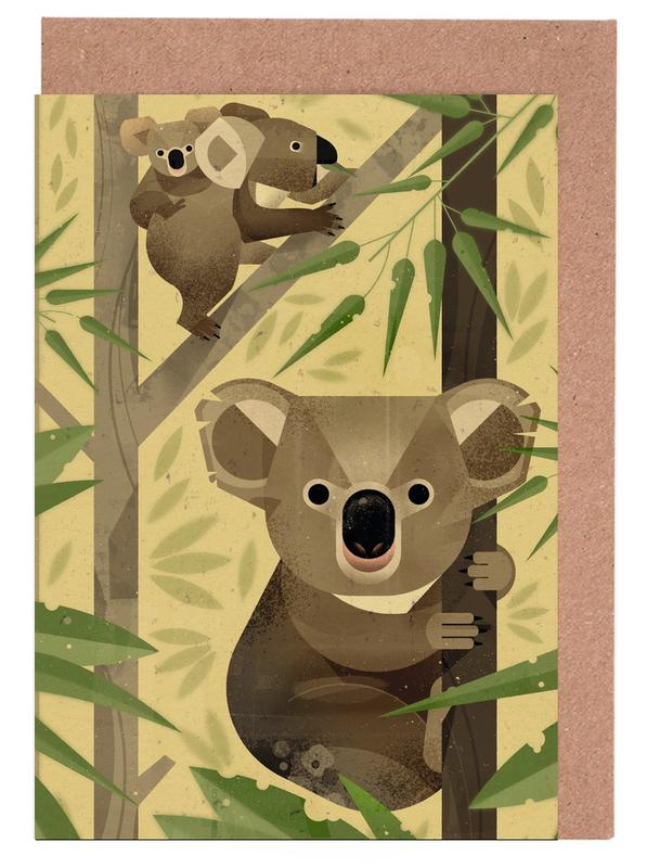 Koala as greeting card set by dieter braun juniqe home stationery greeting cards m4hsunfo
