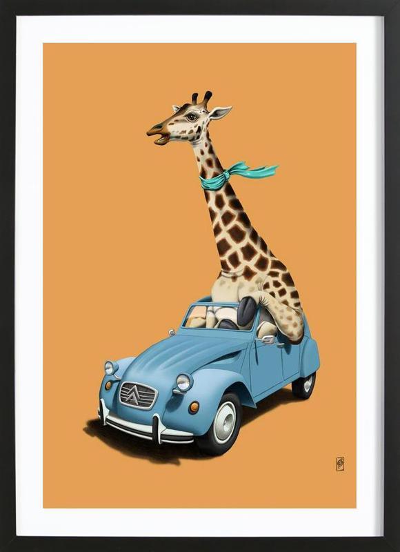 riding high colored als poster im holzrahmen juniqe. Black Bedroom Furniture Sets. Home Design Ideas