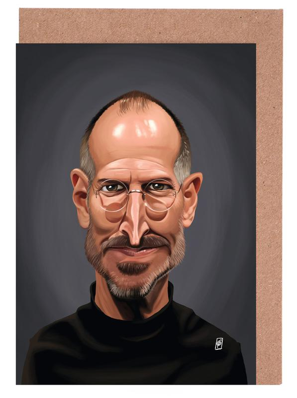 Steve jobs as greeting card set by rob snow creative juniqe home stationery greeting cards m4hsunfo