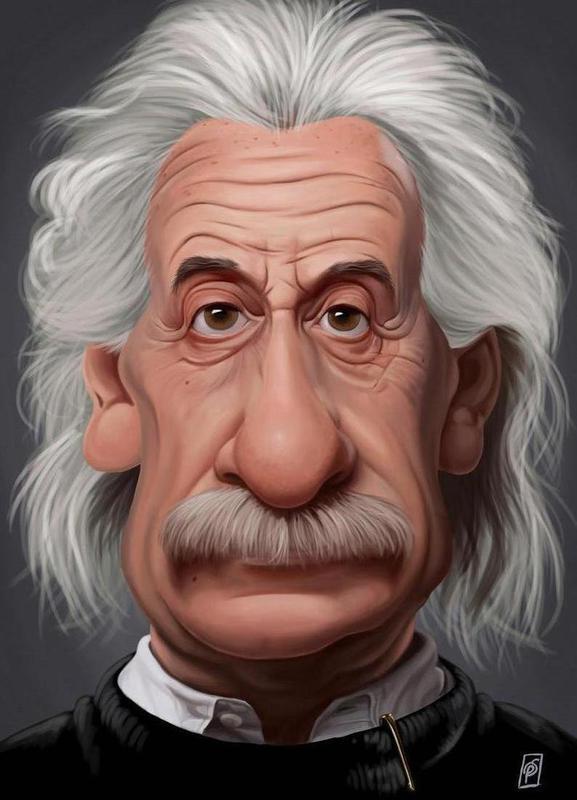 Albert Einstein as Canvas Print by Rob Snow | Creative | JUNIQE