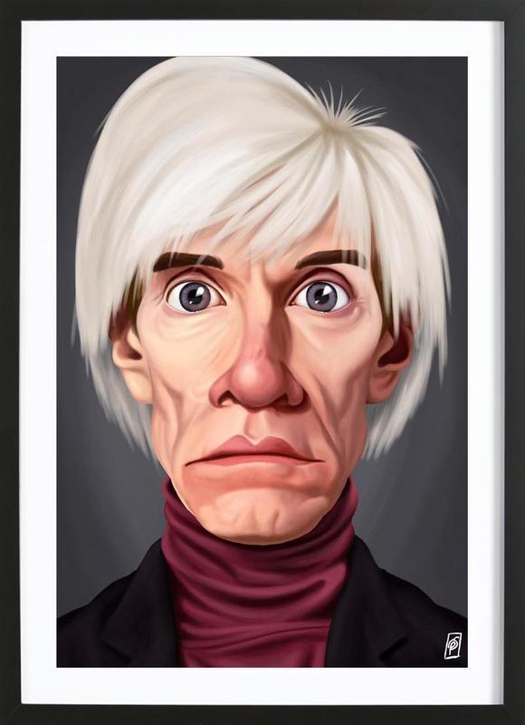 Andy Warhol Als Poster Im Holzrahmen Von Rob Snow Creative Juniqe