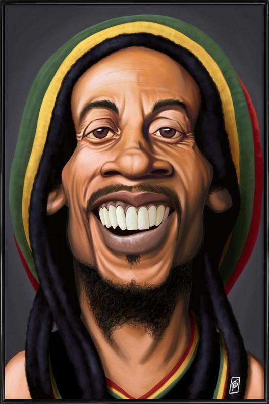 Bob Marley as Poster in Standard Frame by Rob Snow | Creative | JUNIQE