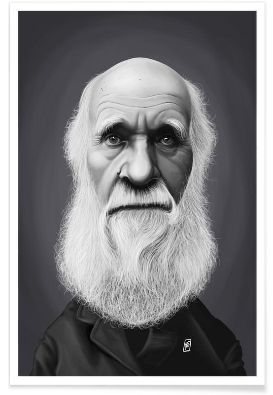 Charles Darwin Caricature Poster Juniqe Uk