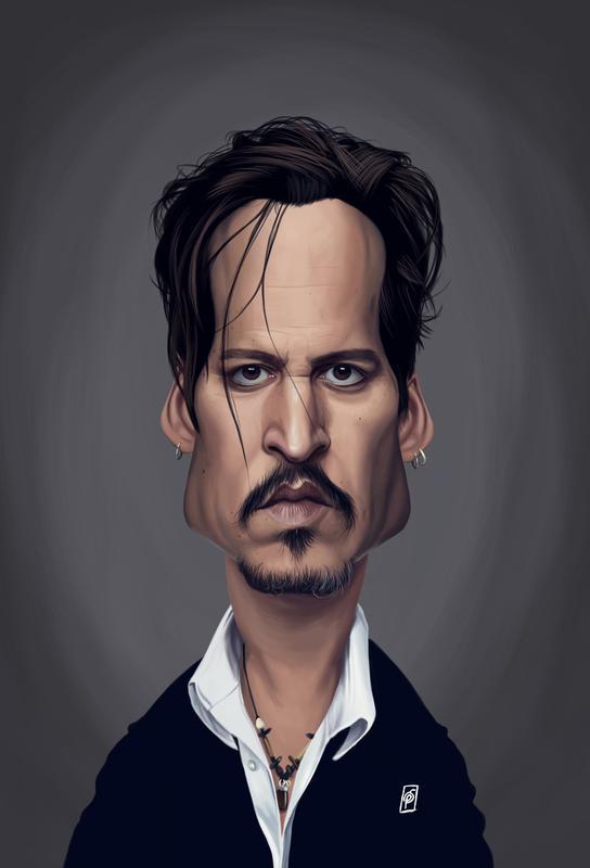 portrait johnny depp