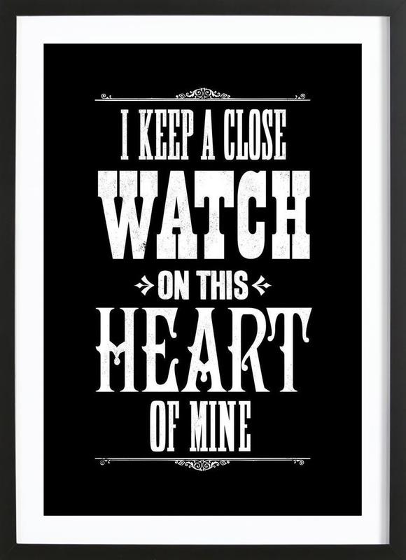 JOHNNY CASH as Poster in Wooden Frame by The Indoor Type | JUNIQE