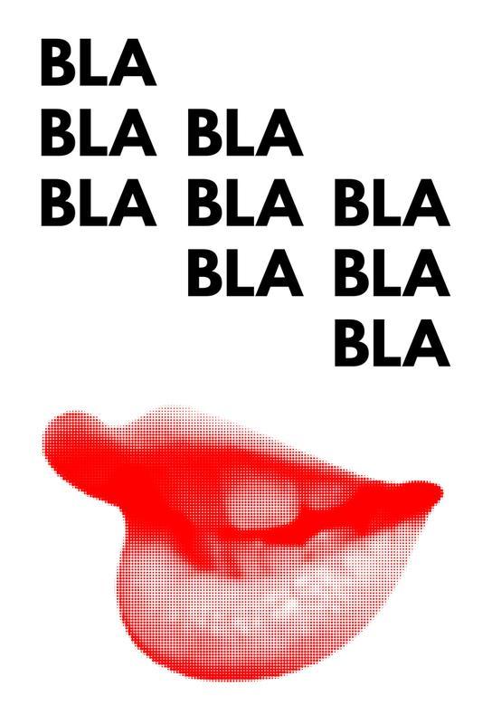bla bla bla aluminium print