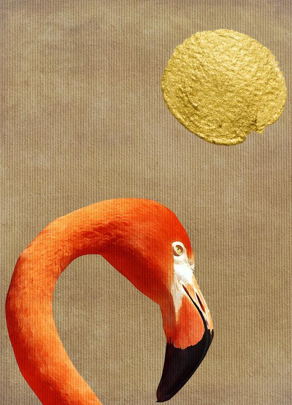 Flamingo Awakening Canvas Print Juniqe Uk