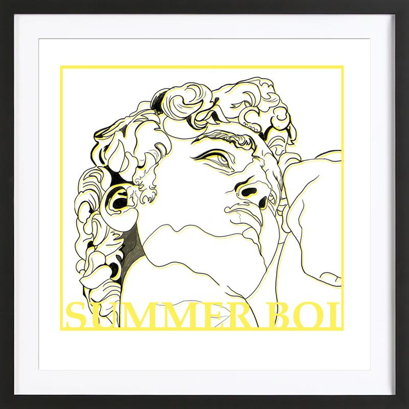 Summer Boi as Poster in Wooden Frame | JUNIQE