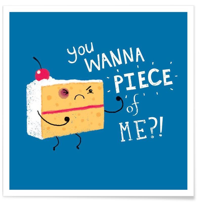 angry cake als premium poster door dinomike juniqe