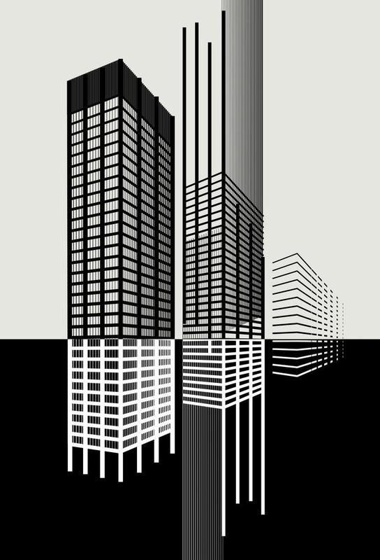 seagram building new york als acrylglasbild von andrea minini juniqe. Black Bedroom Furniture Sets. Home Design Ideas