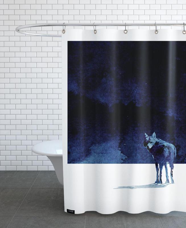 i 39 m going back als duschvorhang von r bert farkas juniqe. Black Bedroom Furniture Sets. Home Design Ideas
