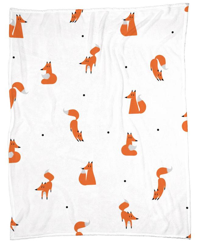 winter foxes als fleecedecke von r bert farkas juniqe. Black Bedroom Furniture Sets. Home Design Ideas