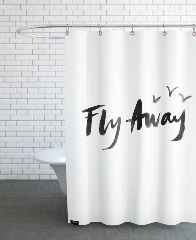 fly away en rideau de douche par dead language juniqe. Black Bedroom Furniture Sets. Home Design Ideas
