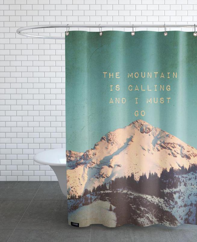 Mountain Is Calling als Duschvorhang von Monika Strigel   JUNIQE