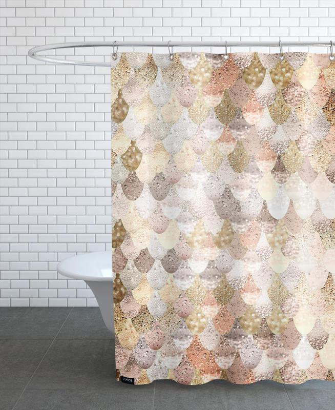 Mermaid Gold als Duschvorhang von Monika Strigel | JUNIQE