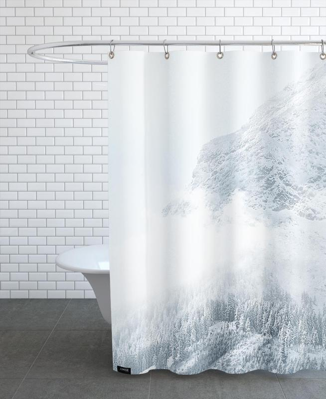 White Mountain 1 En Rideau De Douche Par Monika Strigel Juniqe