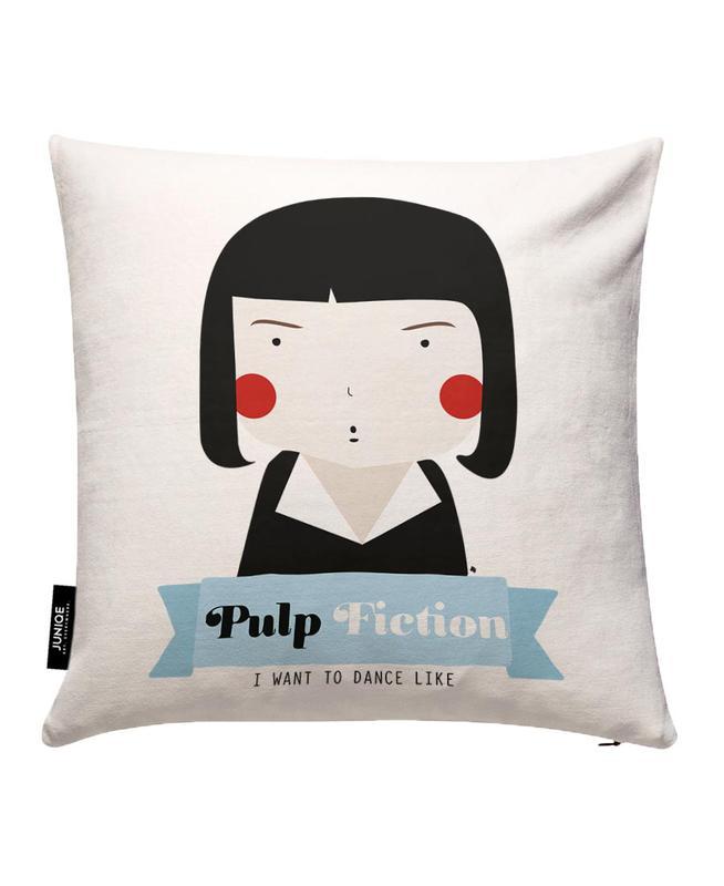 little pulp fiction als kissenbezug von ni asilla juniqe. Black Bedroom Furniture Sets. Home Design Ideas